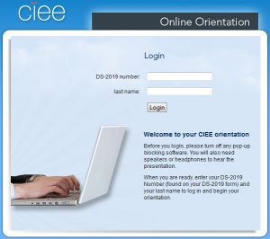 CIEE Orientation Screenshot